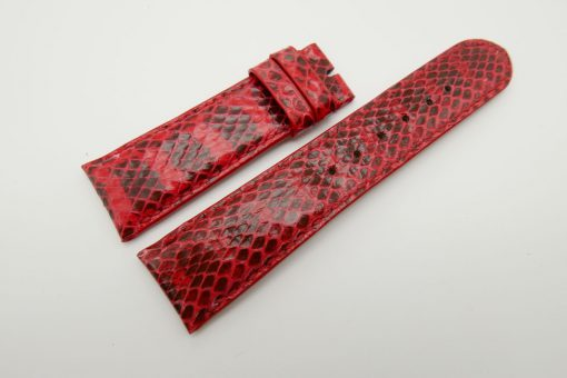 23mm Red Genuine Snake Skin Leather Watch Strap #WT1489