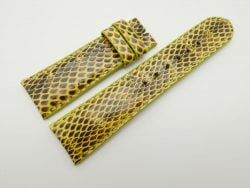 23mm Yellow Genuine Snake Skin Leather Watch Strap #WT1490