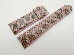 23mm Pink Genuine Snake Skin Leather Watch Strap #WT1491