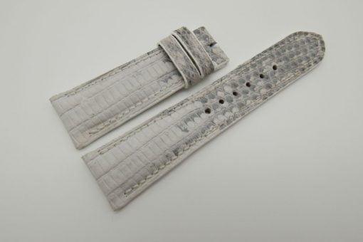 23mm White Genuine Lizard Skin Leather Watch Strap #WT1493