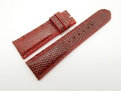 23mm Red Genuine Lizard Skin Leather Watch Strap #WT1494