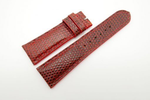 23mm Red Genuine Lizard Skin Leather Watch Strap #WT1494