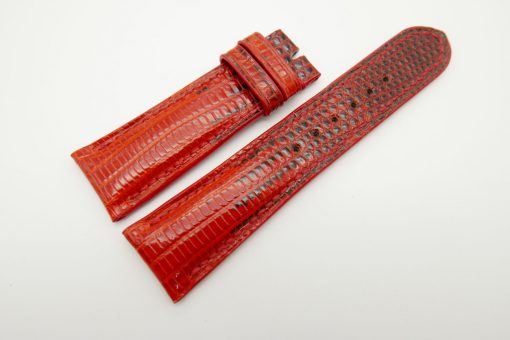 23mm Red Genuine Lizard Skin Leather Watch Strap #WT1495