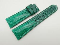 23mm Jade Green Genuine Lizard Skin Leather Watch Strap #WT1497
