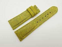 23mm Yellow Genuine Lizard Skin Leather Watch Strap #WT1499
