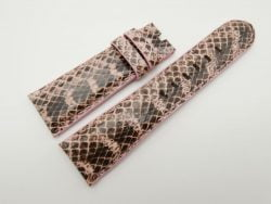 24mm/20mm Pink Genuine Snake Skin Leather Watch Strap #WT1510