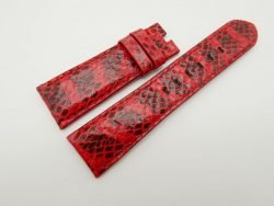 24mm/20mm Red Genuine Snake Skin Leather Watch Strap #WT1511
