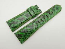 24mm/20mm Lemon Green Genuine Snake Skin Leather Watch Strap #WT1511
