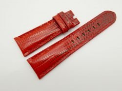 24mm/20mm Red Genuine Lizard Skin Leather Watch Strap #WT1516