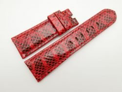 26mm/22mm Red Genuine Snake Skin Leather Watch Strap #WT1530