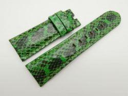 26mm/22mm Green Genuine Snake Skin Leather Watch Strap #WT1533