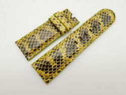 26mm/24mm Yellow Genuine Snake Skin Leather Watch Strap #WT1556