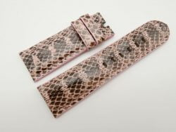 26mm/24mm Pink Genuine Snake Skin Leather Watch Strap #WT1557