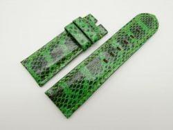 26mm/24mm Lemon Green Genuine Snake Skin Leather Watch Strap #WT1558