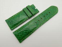 26mm/24mm Emerald Green Genuine Ostrich Skin Leather Watch Strap #WT1552