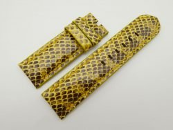 26mm/26mm Yellow Genuine Snake Skin Leather Watch Strap #WT1568