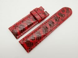 26mm/26mm Red Genuine Snake Skin Leather Watch Strap #WT1569