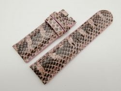 26mm/26mm Pink Genuine Snake Skin Leather Watch Strap #WT1572