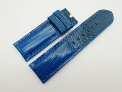 26mm/26mm Electric Blue Genuine Lizard Skin Leather Watch Strap #WT1579