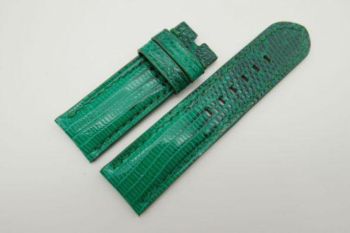26mm/26mm Jade Green Genuine Lizard Skin Leather Watch Strap #WT1573