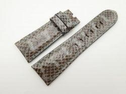 27mm/22mm Grey Genuine Snake Skin Leather Watch Strap #WT1597