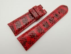 27mm/22mm Red Genuine Snake Skin Leather Watch Strap #WT1598