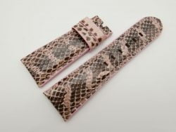 27mm/22mm Pink Genuine Snake Skin Leather Watch Strap #WT1599