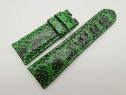 27mm/22mm Lemon Green Genuine Snake Skin Leather Watch Strap #WT1600