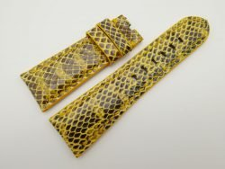 27mm/22mm Yellow Genuine Snake Skin Leather Watch Strap #WT1601