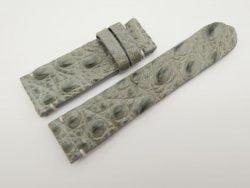 24mm Light Grey Genuine Crocodile Skin Leather Watch Strap for PANERAI #WT1476