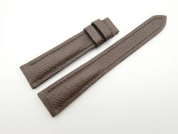 18mm/14mm Dark Brown Genuine EPSOM Leather Watch Strap #WT2212