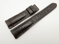 18mm/16mm Dark Brown Genuine Ostrich Skin Leather Watch Strap #WT1880