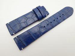 22mm/20mm Blue Genuine Crocodile Skin Leather Watch Strap #WT1664