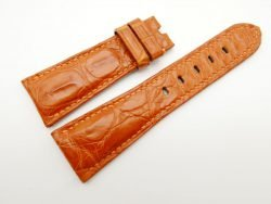 27mm/20mm Orange Genuine Crocodile Skin Leather Watch Strap for PANERAI #WT1696