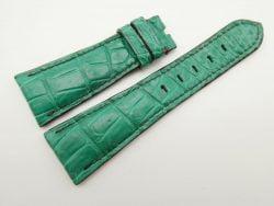 27mm/20mm Jade Green Genuine Crocodile Skin Leather Watch Strap for PANERAI #WT1706