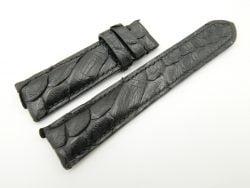 22mm/20mm Black Genuine Snake Skin Leather Watch Strap #WT1996