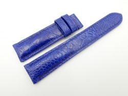 20mm/18mm Cobalt Blue Genuine OSTRICH Skin Leather Watch Strap #WT1997