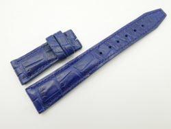 21mm/18mm Blue Genuine Crocodile Skin Leather Deployment Strap For IWC #WT2074