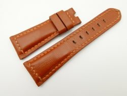 26mm/20mm Cognac Wax Leather Watch Strap for Panerai #WT2000