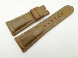 26mm/20mm Olive Green Wax Leather Watch Strap for Panerai #WT2002
