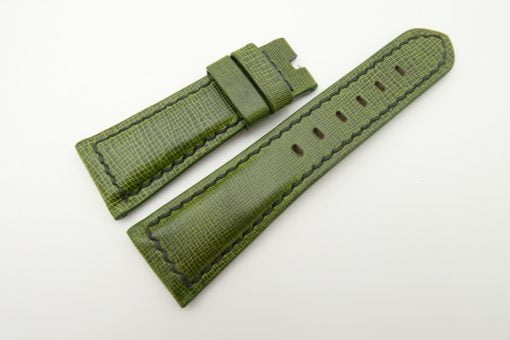 26mm/20mm Green Wax Leather Watch Strap for Panerai #WT2003