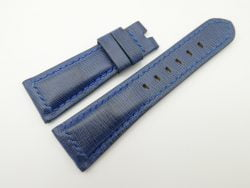 26mm/20mm Blue Wax Leather Watch Strap for Panerai #WT2004