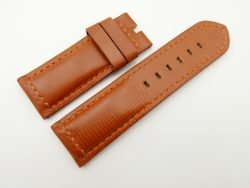 26mm/26mm Cognac Wax Leather Watch Strap for Panerai #WT2008