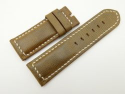 26mm/26mm Olive Green Wax Leather Watch Strap for Panerai #WT2007