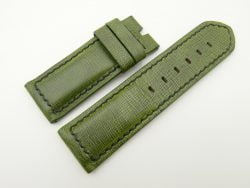 26mm/26mm Green Wax Leather Watch Strap for Panerai #WT2006
