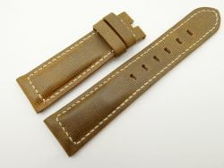 22mm/20mm Olive Green Wax Leather Watch Strap for Panerai #WT2019