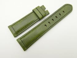 22mm/20mm Green Wax Leather Watch Strap for Panerai #WT2018