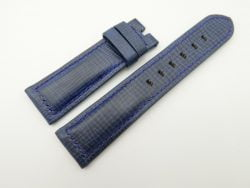 22mm/20mm Blue Wax Leather Watch Strap for Panerai #WT2017