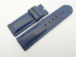 24mm/24mm Blue Wax Leather Watch Strap for Panerai #WT2023