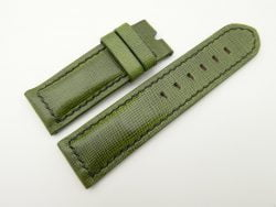 24mm/24mm Green Wax Leather Watch Strap for Panerai #WT2021